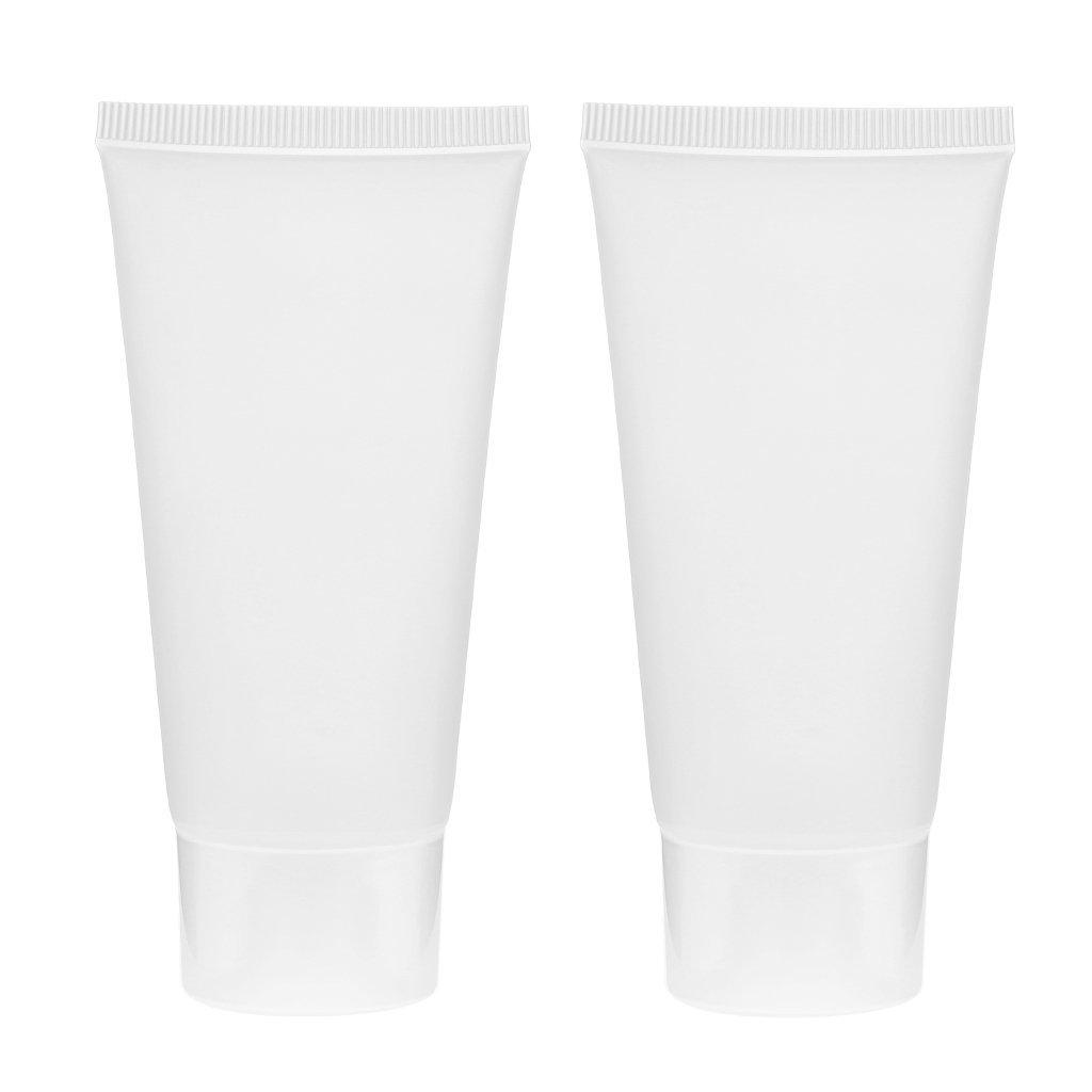 2pz 50ml Morbido Vuoto Crema Cosmetica Detergente Viso Tubo Contenitore - Chiaro Generic