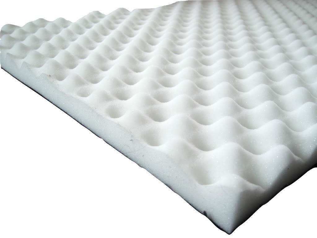 Espuma Acú stica, noppenschaumstoff, aislamiento (100cm x 50cm x H) blanco o negro - antracita / Negro, 100 x 50 x 5 mail2mail