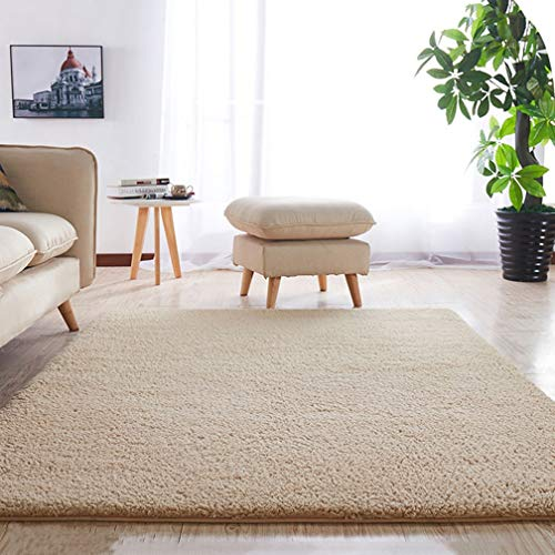 (Solid Rectangular Area Rugs Soft Shag Living Room Children Bedroom Rug Anti-Slip Plush Carpets Home Decor Modern Indoor Outdoor Runners Nursery Camel 2' X)