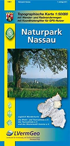 Naturparkkarten, Naturpark Nassau (Freizeitkarten Rheinland-Pfalz 1:50000 /1:100000) Landkarte – Folded Map, 4. Mai 2011 3896373056 Stadtpläne Deutschland Nassau (Rheinland-Pfalz)