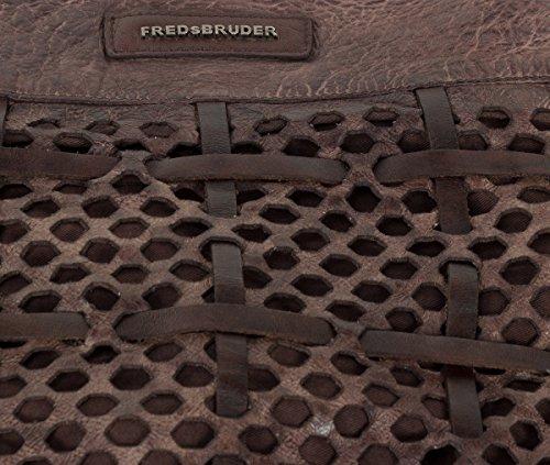 FredsBruder Functional Borsa hobo marrone scuro