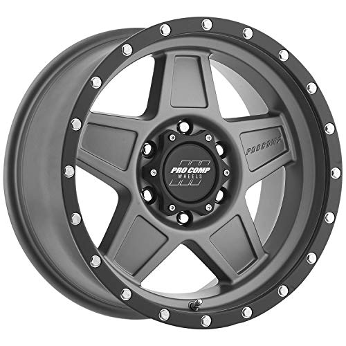 (Pro Comp Wheels Series 35 Predator Matte Graphite Wheel with Painted Finish (17 x 8.5 inches /6 x 5 inches, 0 mm Offset))