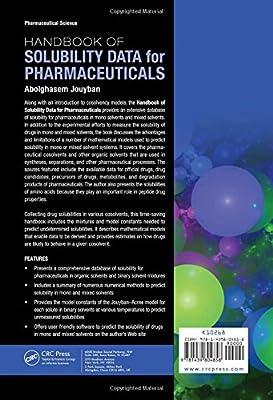 Handbook of Solubility Data for Pharmaceuticals