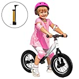 AODI Sport Balance Bike, No Pedal Toddler Bike with Saddle Adjustable Toddler Walking Bicycle for Kids Ages 18 Months to 5 Years (Inflatable Wheels)