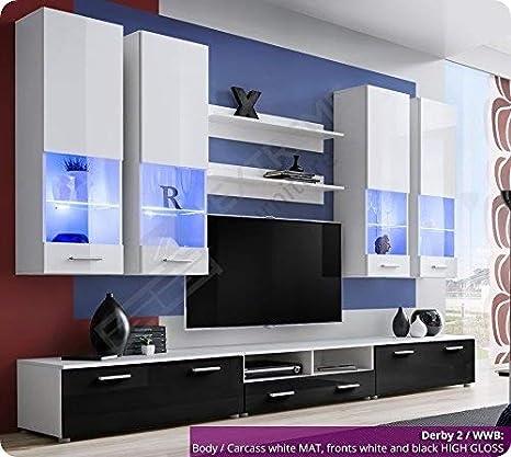 Juego de muebles de pared de salón (con unidad de televisión ...