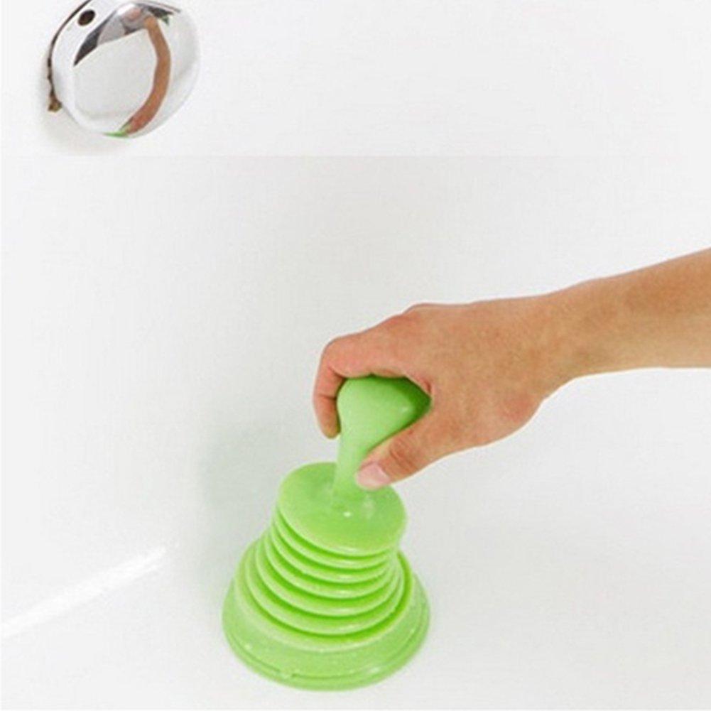Taille Unique OSISTER7 M/énage Puissant Plastique Tuyau de vidange d/évier Pipeline Dredge Ventouse Toilettes Piston Green