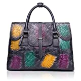 APHISON Women Leather Handbag Large Capacity Tote Bags Embossed Design Shoulder Bag For Ladies