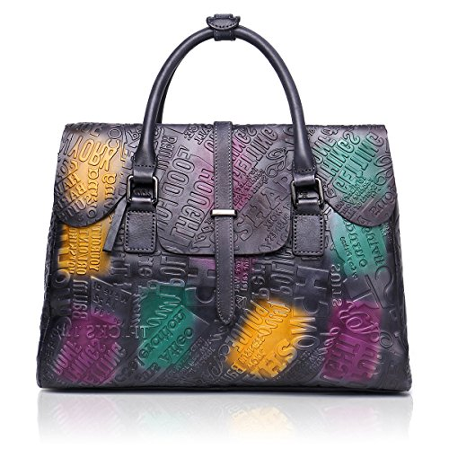 APHISON Women Leather Handbag Large Capacity Tote Bags Embossed Design Shoulder Bag For Ladies 8146 ()