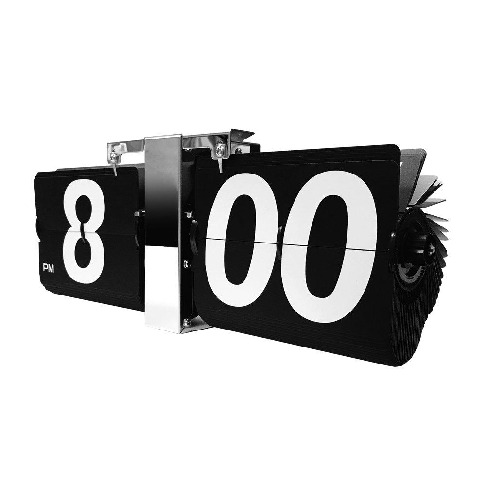空港の運行標示版をモチーフにした壁掛け時計!特大フリップ掛け時計【EM-F018-B】 B07C5PV1DZ