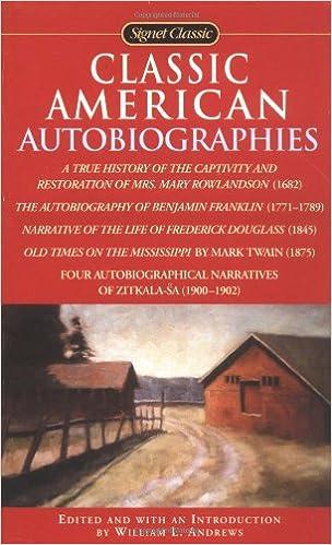 Classic American Autobiographies: William L. Andrews ...