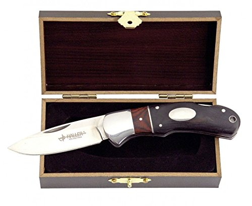 Haller Taschenmesser Holzgriff Geschenkbox, schwarz/rot, 83479