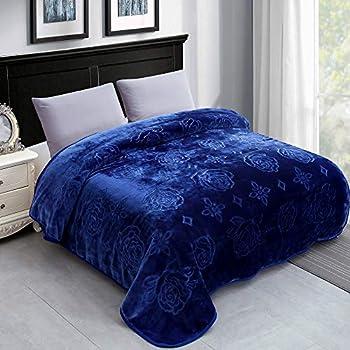JYK Luxury Fleece Plush Blanket 3.5 LB, Korean Mink Blanket for Winter (Size 79