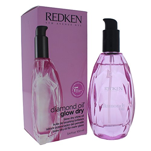Redken Glow Dry Diamond Style Enhancing Oil, 3.4 Ounce