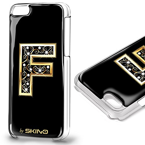 Skino™ Custodia Skin 3D Anti-Gravità Case Cover Resina Gel per iPhone 5 / 5s / 5 SE / 6/6 Plus / 6s / 6s Plus / 7/7 Plus Anti-Scratch Protezione 100% UV Antiscivolo Letter Gold Lettera Doro F (iPhone