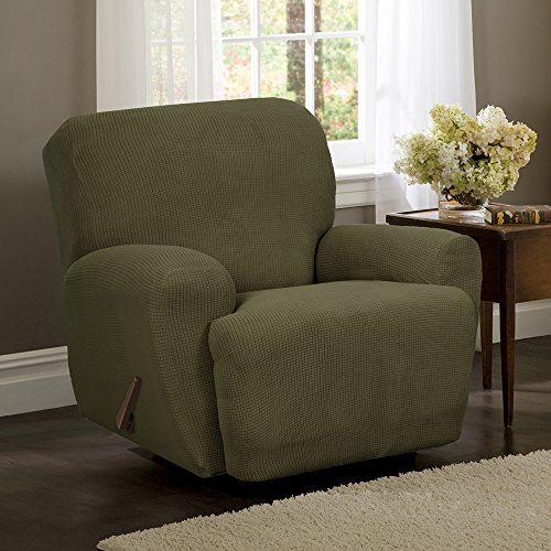 Maytex Stretch Reeves 4-Piece Recliner Slipcover Dark sage & Green Recliner Cover: Amazon.com islam-shia.org