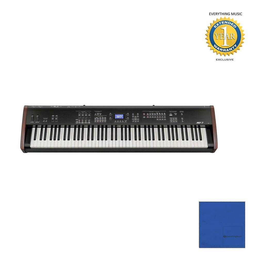 Kawai MP7 88-key Stage Piano and Master Controller with Microfiber and 1 Year Everything Music Extended Warranty by Kawai