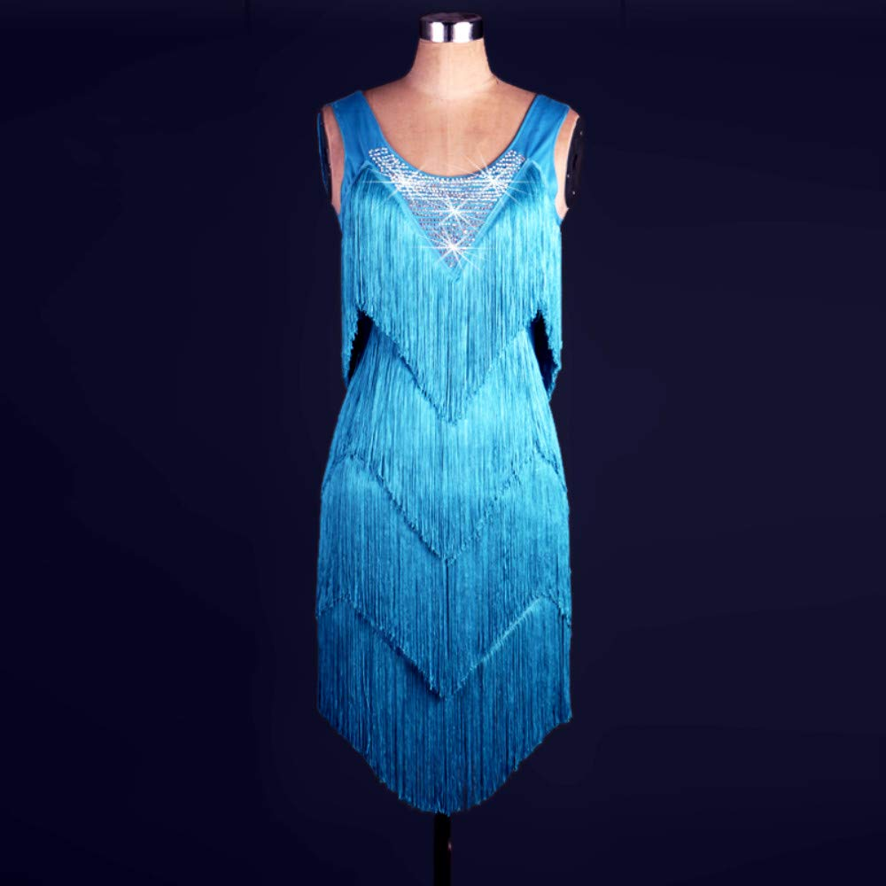 【期間限定特価】 ラテンダンスドレス女性のパフォーマンススパンデックスタッセル結晶ラインストーンノースリーブドレスフェスティバルコスチューム B07PCPVR2N B07PCPVR2N XL|Blue XL|Blue Blue Blue XL, おがにっくしぜんかん:cd5e5cab --- a0267596.xsph.ru