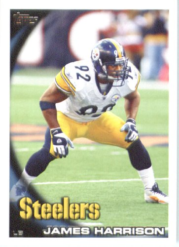 2010 Topps NFL Football Card # 204 James Harrison - Pittsburgh Steelers - NFL Trading Card in a Protective ScrewDown Case! - James Harrison Football