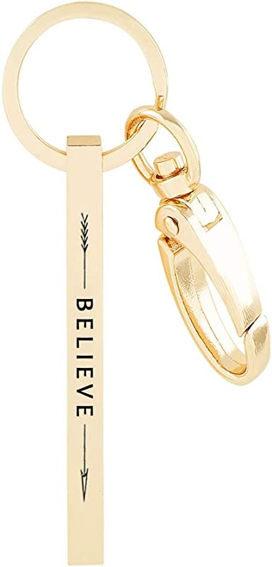 Believe In Yourself Keyring Bag charm Keychain Friendship Gift Card Positivity