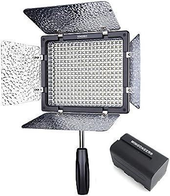 Yongnuov LED Luz del Panel de Vídeo Hot Shoe Light (con mando a ...