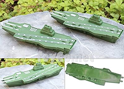2 pcs Military Aircraft Carrier Ship Model Toy Soldier Army Men Accessories /item# G4W8B-48Q53696