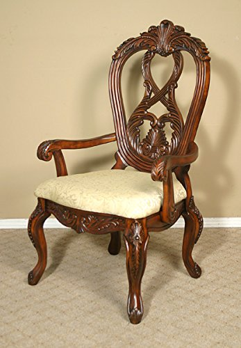 Queen Anne Mahogany Dining Arm Chair