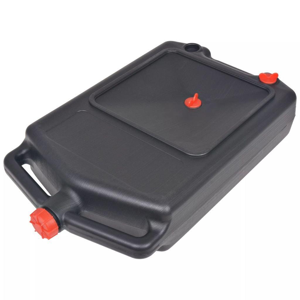Contenitore Portatile a olio usé e 10 L in Plastica 58 x 33 x 14 cm (L x L x H) nero XINGLIEU