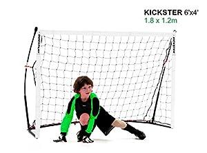 QUICKPLAY Kickster Academy Tragbares 2,4 x 1,5m Fußballtor