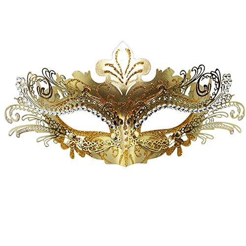 Funbase Women Laser Cut Metal Lady Halloween Venetian Masquerade Party (Cut Eye Halloween)