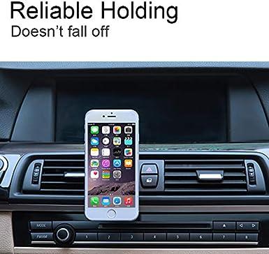 Air Vent Magnetic Phone Holder Car Black Note 8 5 4 2 Galaxy S8 S7 S6 Edge Attom Tech Air Vent Phone Mount Holder Aluminum Car AC Vent Compatible iPhone X 8 7 Plus 6S 6 5s 5 SE