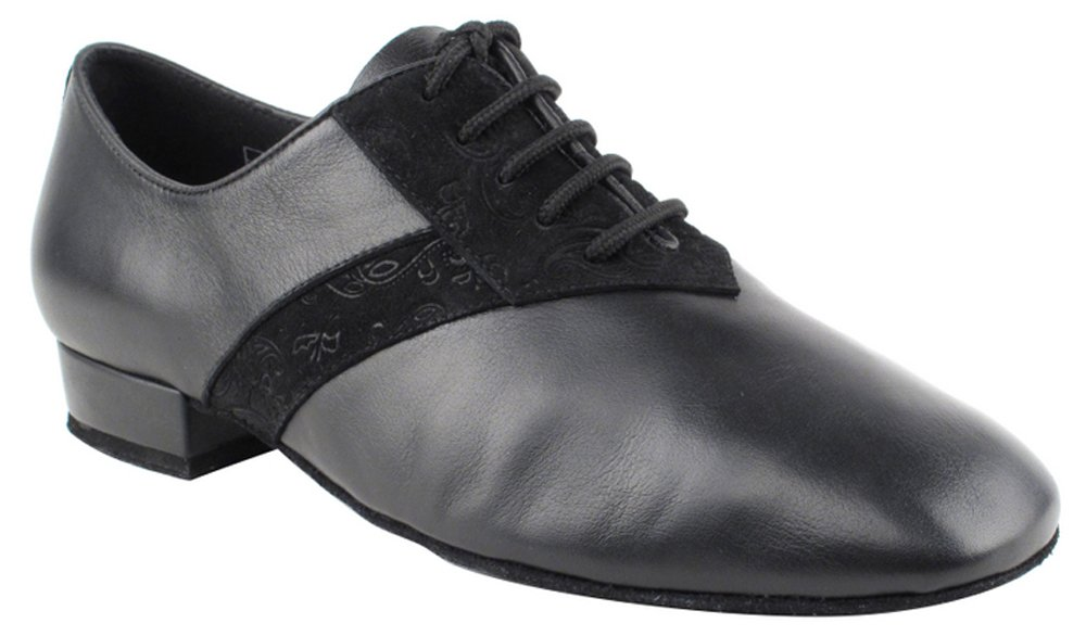 Very Fine Shoes Men's Standard & Smooth Competitive Dancer Series CD9001A Black Leather and Nubuck with 1'' Heel (7)