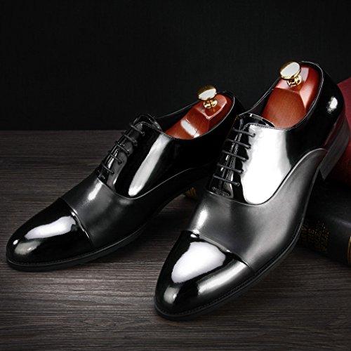 Uomo EU42 da HWF da UK7 Scarpe da uomo a scarpe stile Colore Uno in cerimonia Pelle punta da uomo pelle britannico 5 stile brillante B Stile Scarpe dimensioni in lavoro 44rxTq5