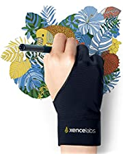 XENCELABS, Artist Glove, Drawing Glove Left Right Hand for Drawing Tablet, 2 Finger Glove for Drawing Black Size M