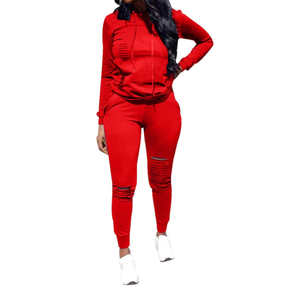 1f3414c83 Top-Vigor Womens 2PCS Plus Size Sweatsuits Set Long Sleeve Hoodie and  Bodycon Pants Jogging Suit Tracksuit for Women Ladies at Amazon Women's  Clothing store ...