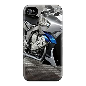 Tpu Shockproof/dirt-proof Bmw Motorrad Concept Cover Case For Iphone(4/4s)