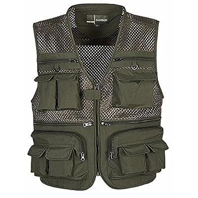 Hot ONTBYB Men Photography Work Multi-pockets Vest Jacket Mesh Fishing Vest supplier