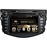 Effort GPS Navigation Android 8.0 Car Stereo CD DVD Player In Dash Radio with 7 LCD Bluetooth Multimedia System for TOYOTA RAV4 2006-2012 Support Audio&Video Format/Wifi/3G/Rear View Camera