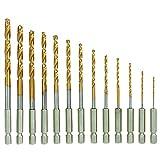 Warrior 61621 Titanium Nitride High Speed Steel Drill Bits