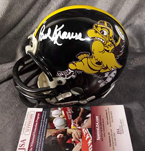 - Paul Krause Autographed Signed Memorabilia Iowa Hawkeyes Mini Helmet - JSA Authentic