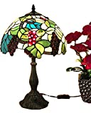 Tiffany Lamp & Gift Factory AD-17047 Tiffany Lamp Stained Glass Flower Lamp 12 inch Tiffany-Style Art Glass Desk Lamp Table Light (12)