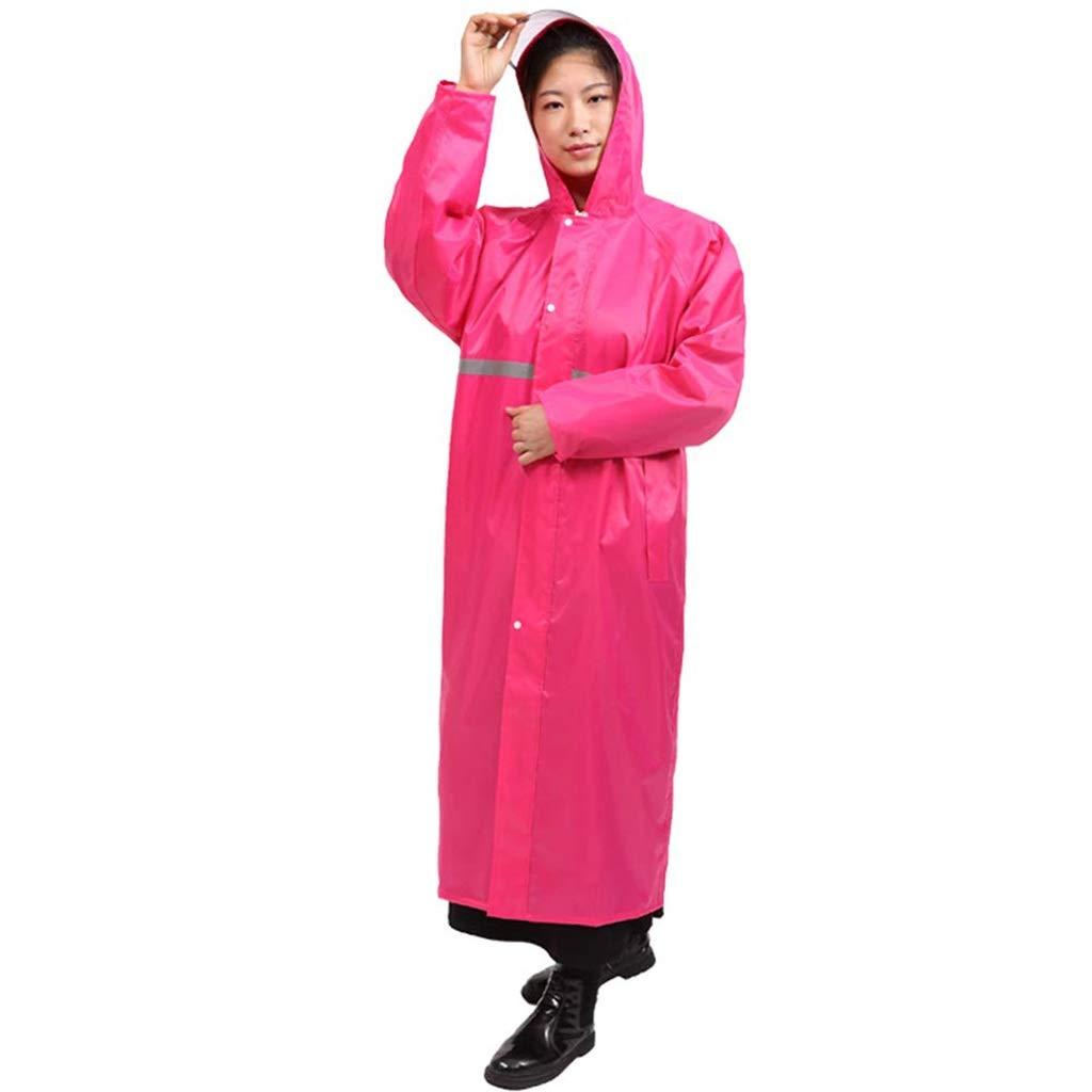 Rose Rouge XXXL TzJz Costume imperméable Pluie Veste Manteau Coupe-Vent Poncho Pluie Coupe-Vent Adulte randonnée Mode imperméable équitation Longue épaisseur imperméable en Plein air
