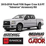 running board carpet - Gator 2015-2019 Ford F150 SuperCrew 5.5 FT Accessory Advance Kit (Hard Folding Tonneau Cover, 5