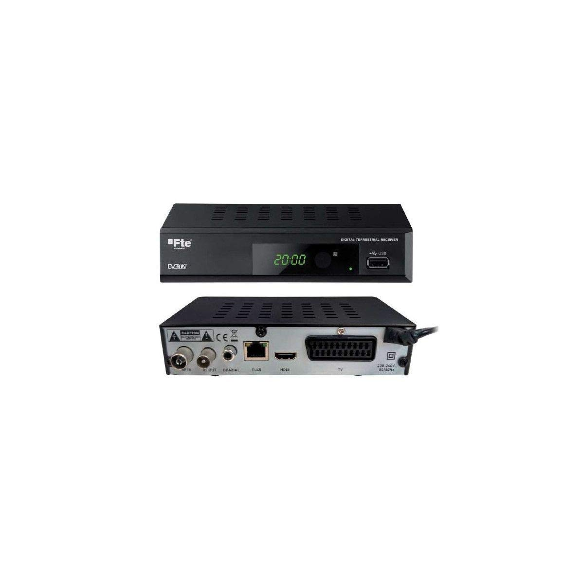 RECEPTOR TDT FTE MAX T200 HD DVB-T2HD H265