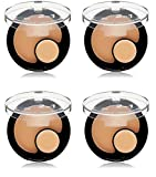 Revlon ColorStay 2-in-1 Compact Makeup & Concealer, Natural Tan (4 Pack) + FREE Luxury Luffa Loofah Bath Sponge On A Rope, Color May Vary