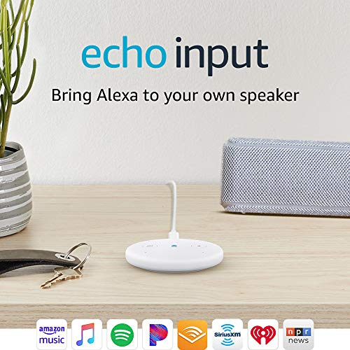 Echo Input – Bring Alexa to your own speaker- White