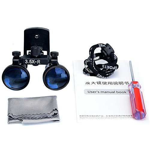 Zgood Dental Binocular Loupes Surgical Glasses Magnifier Clip on Style DY-110 3.5X-R by ZGood (Image #1)