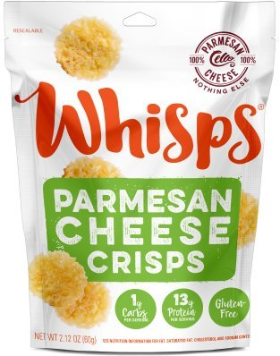 Cello Whisps Pure Parmesan Cheese Crisps, 2.12 Ounce - Pack of 6