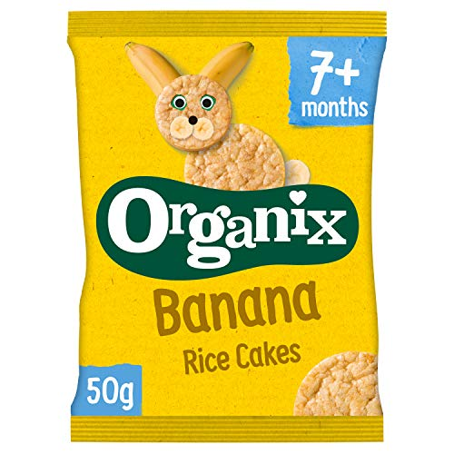 Organix Banana Rice Cakes 50 g (Pack of 7) (organic)