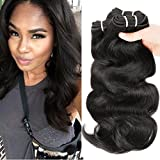 (US) HANNE 300G Brazilian Virgin Hair Body Wave Curly Hair Virgin Brazilian Hair Weaves Human Hair Extensions (10