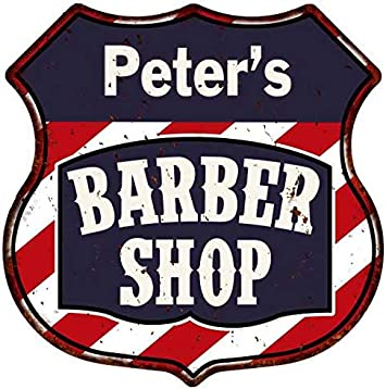 Barber Shop Vintage Style 518 Metal Sign Barber Shop Signs Barber Shop Sign